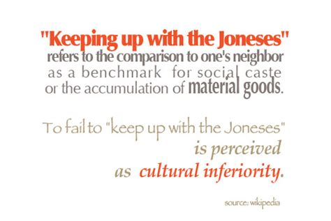 keeping up with the joneses are you keeping up with the joneses skimbaco lifestyle