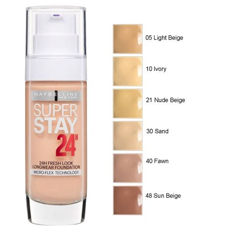 maybelline superstay 24hr longwear foundation 30ml