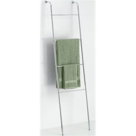 Leaning Ladder Towel Rack leaning towel ladder chrome in free standing towel racks
