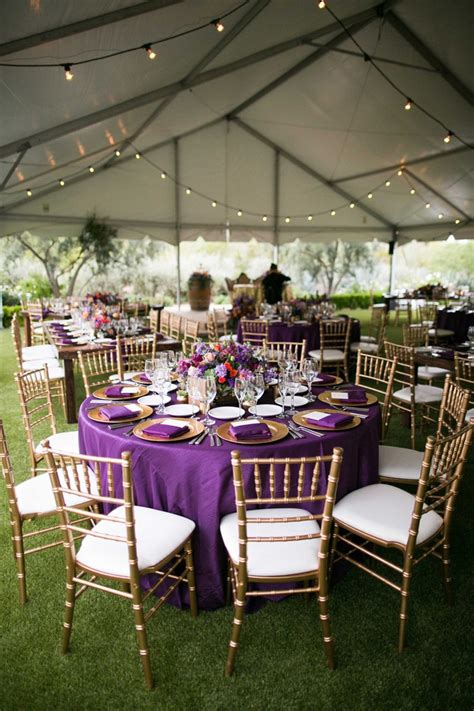 purple and gold table decorations purple wedding decorations wedding ideas by colour chwv