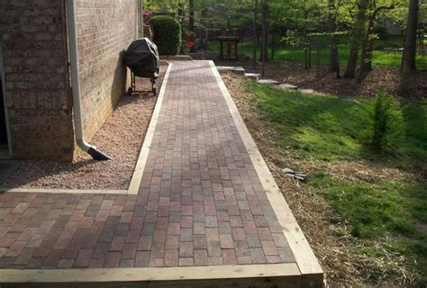 Landscape Timbers Border Timber Border Around Pavers Outdoor Oasis
