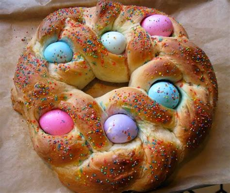 italian easter bread row homes and cobblestones ancient legends became