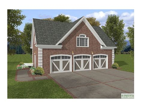 3 Car Garage Plans With Loft by Garage Loft Plans 3 Car Garage Loft Plan With Brick