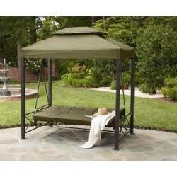 Patio Swing Gazebo Garden Oasis 3 Person Gazebo Swing Limited Availability