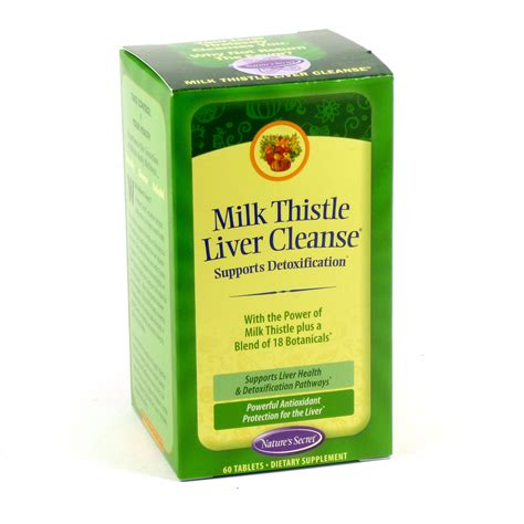 How To Detox Liver With Milk Thistle by Milk Thistle Liver Cleanse By Nature S Secret 60 Tablets