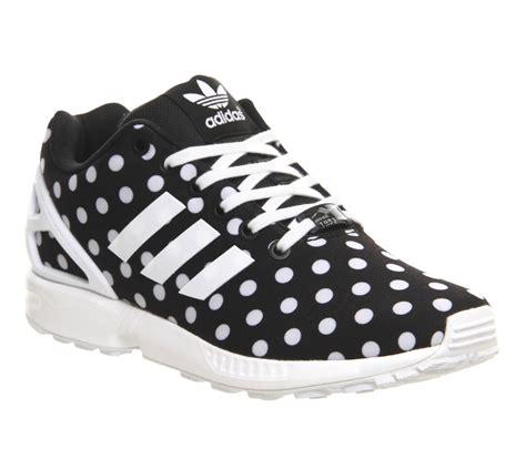 Adidas Zx Flux Polkadot Black White adidas zx flux black white polka dot unisex sports