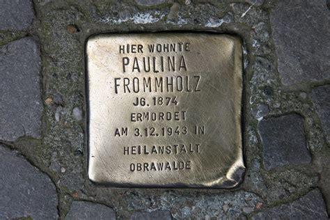 frommholz berlin stolpersteine 78 in memory of frommholz