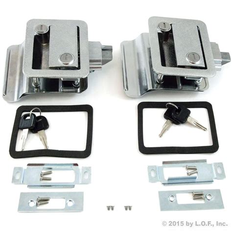 rv door latch pair rv paddle entry door lock latch handle knob deadbolt new cer trailer kit 43 29 picclick