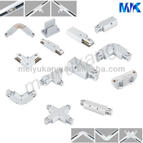 4 Line Track Rails Flexible Joint For 3 Phase Track Bar