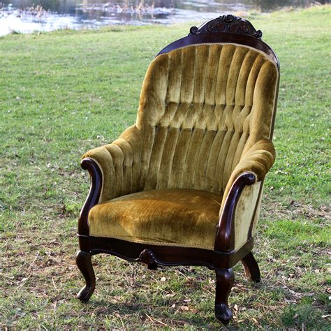Stuffed Chairs by Gustov Gold Wood Trimmed Stuffed Chair Forever