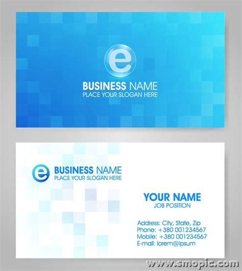 designer visiting cards templates vector lattice blue card background design template