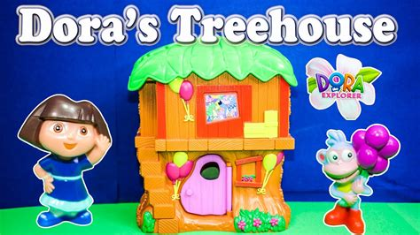 unboxing  dora  explore adventure treehouse playset