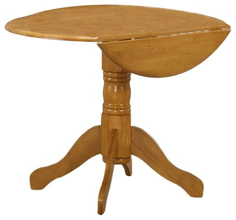 Oak Drop Leaf Dining Table Spiced Oak Drop Leaf Dinette Table Contemporary Dining Tables By Overstock