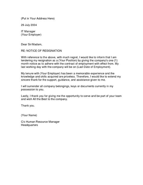 Resignation Letter Without One Month Notice Best Photos Of 1 Day Notice Letter Resignation Sle Resignation Letter Without Notice