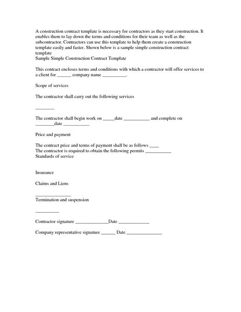 basic contract template simple contract template lisamaurodesign
