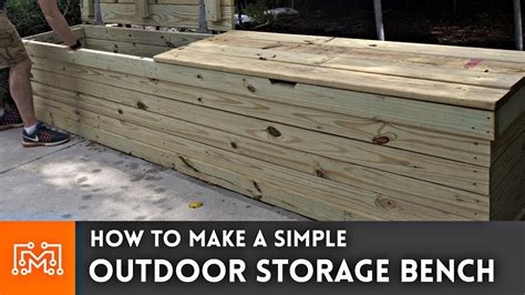 outdoor storage bench woodworking   youtube