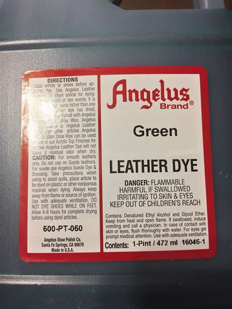 angelus leather dye vs paint angelus green leather dye 1 pint jwong boutique