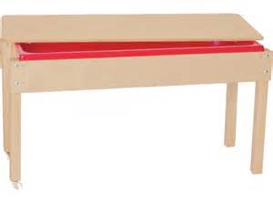 large wooden sand and water table with lid 46x17