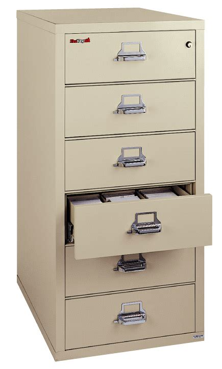 fireking 6 drawer card check note filing cabinet 6 2552 c