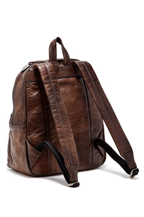 S Leather Backpack Brown lyst frye leather backpack in brown for