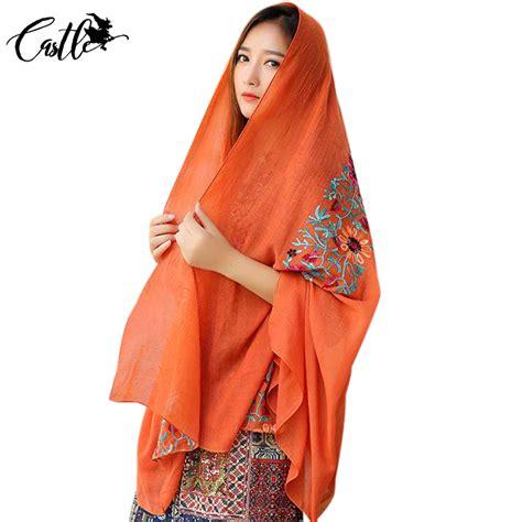 Blouse Murah Katun Motif Bunga syal katun motif bunga scarf embroidery yellow jakartanotebook