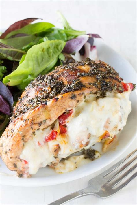 Healthy Balsamic Glazed Chicken And Bell Pepper Sandwiches by Italian Stuffed Chicken
