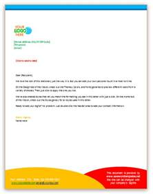 business letter template using letterhead sle
