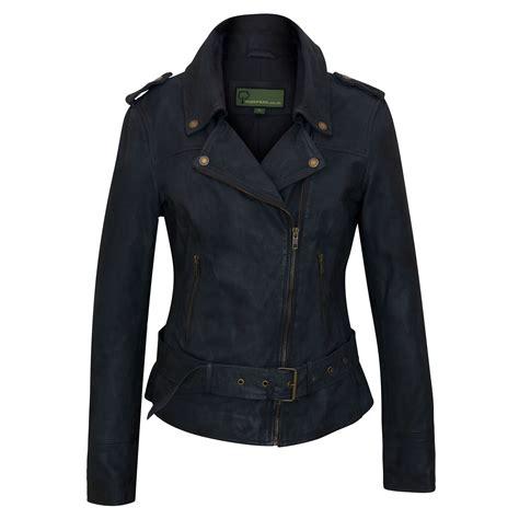 10 Jackets I by Zoe S Navy Leather Biker Jacket Hidepark Leather