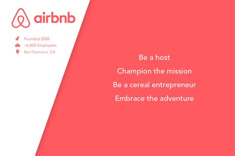airbnb vision and mission 25 top workplaces and their core values wishlist rewards