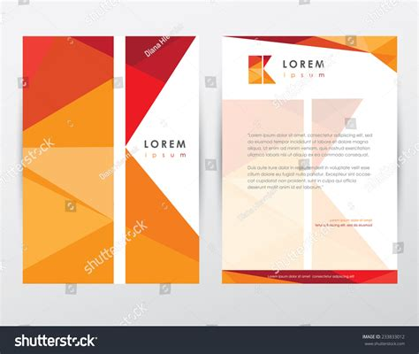 brochure cover letterhead template design stationery stock