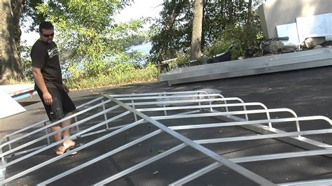 boat canopy frame for sale hewitt canopy frame assembly youtube