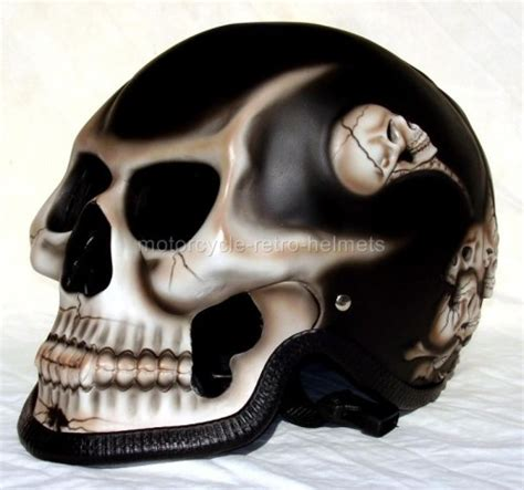 Skull Skeleton Death GHOST RIDER Black Fullface Motorcycle
