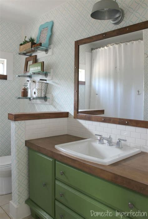 Diy Wood Bathroom Countertop by Remodelaholic Diy Butcher Block Wood Countertop Reviews