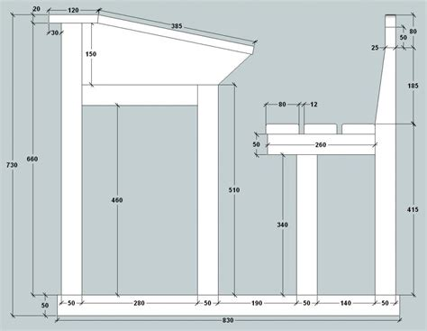 arri鑽e plan du bureau plan bureau d 233 colier par jft68 sur l air du bois