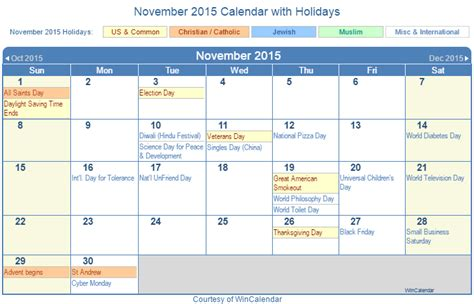 printable calendar november 2015 with holidays print friendly november 2015 us calendar for printing