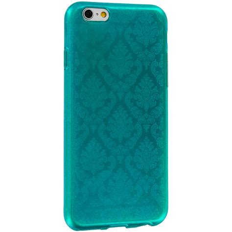 layout case iphone teal tpu damask design rubber case cover for apple iphone