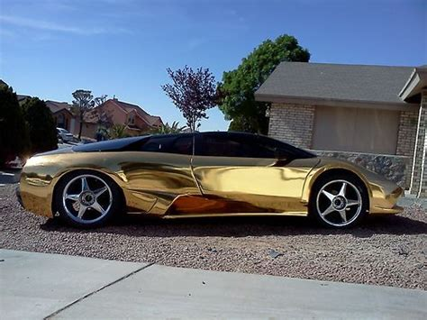 Gold Lamborghini For Sale Buy Used Lamborghini Murcielago Lp640 Replica Holy Gold