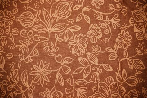 Brown Pattern Fabric | brown fabric with floral pattern texture picture free