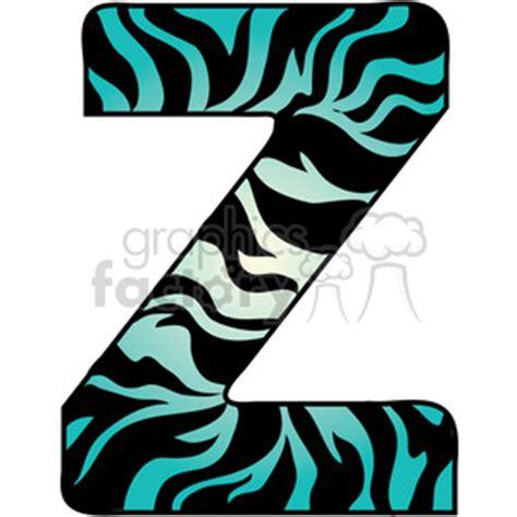 zebra print letters clip art 65