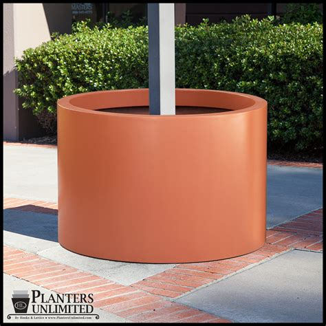 Post Planters by Wrap Around Post Planters Modern Planters Unlimited