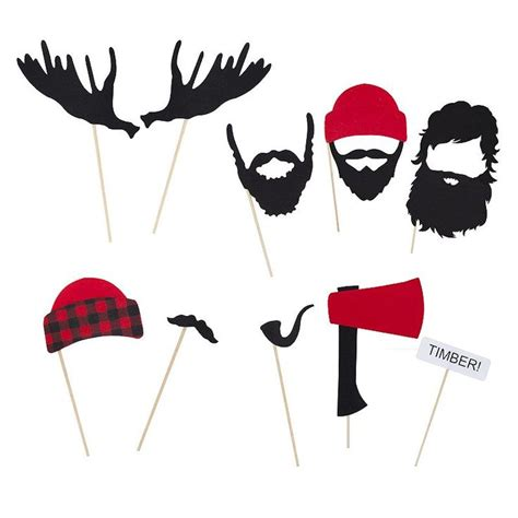 free printable lumberjack photo booth props 40 best images about fabulous fifty on pinterest photo
