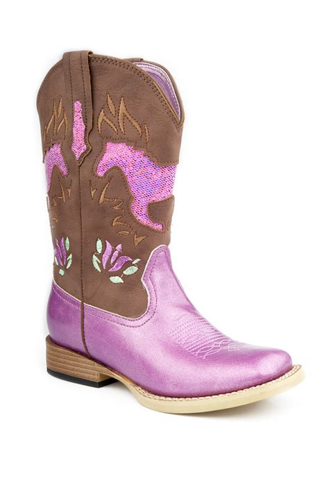pink boots nib roper cowboy boots pink faux leather