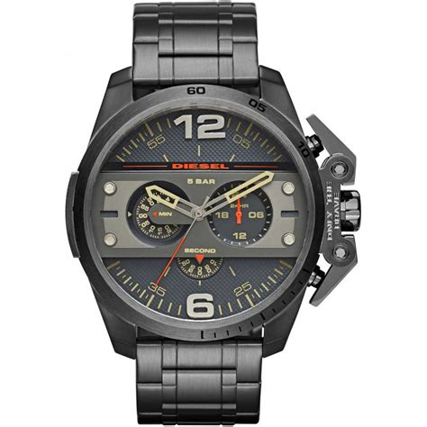 diesel s ironside chronograph gunmetal bracelet
