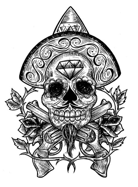 mexican skull tattoo designs 1000 images about my on