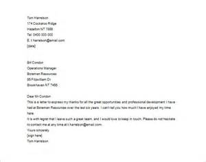 Thank You Letter Employees From Employer thank you letter to employee 10 free sample example