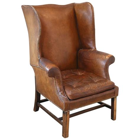 french wingback chair french leather wingback chair from the 1920s at 1stdibs