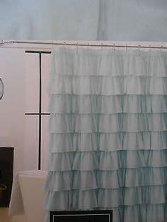 cynthia rowley bedroom curtains pale aqua ruffle shower curtain apartment ideas pinterest