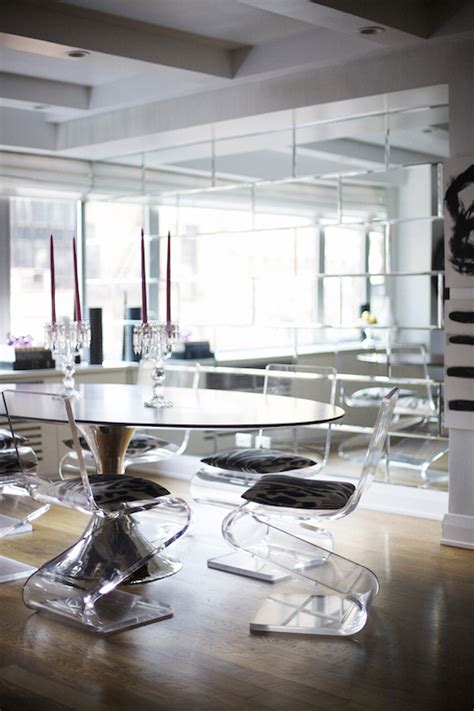 Design For Lucite Dining Chairs Ideas Acrylic Z Chairs Contemporary Dining Room