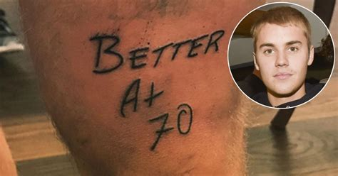justin bieber lyrics tattoo justin bieber gets better at 70 tattoo