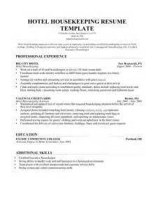 effective housekeeping resume for description vntask